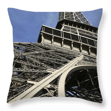 Eiffel Tower Throw Pillow by Belinda Greb