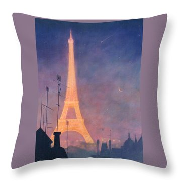 Eiffel Tower Throw Pillow by Blue Sky