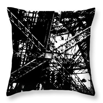 Throw Pillow featuring the photograph Eiffel Tower Detail  by Joey Agbayani