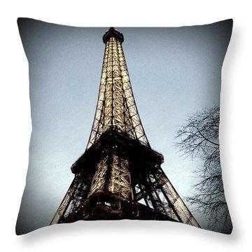 Throw Pillow featuring the photograph Eiffel Tower by Glenn DiPaola