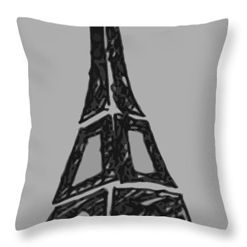 Eiffel Tower Graphic Throw Pillow by Robyn Saunders