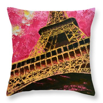 Eiffel Tower Iconic Structure Throw Pillow