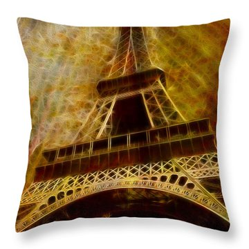Eiffel Tower Throw Pillow by Jack Zulli