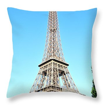 Throw Pillow featuring the photograph Eiffel Tower by Joe  Ng