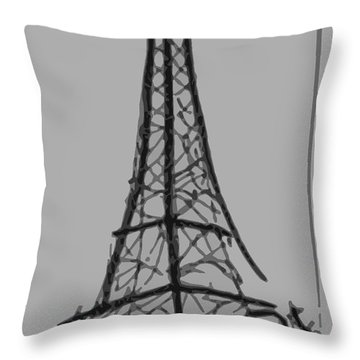 Eiffel Tower Lines Throw Pillow