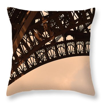 Eiffel Tower Paris France Arc Throw Pillow by Patricia Awapara