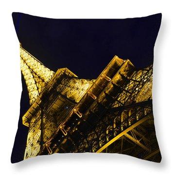 Eiffel Tower Paris France Side Throw Pillow by Patricia Awapara