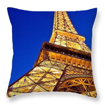 Eiffel Tower Paris Las Vegas Throw Pillow