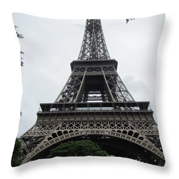 Throw Pillow featuring the photograph Eiffel Tower by Pema Hou