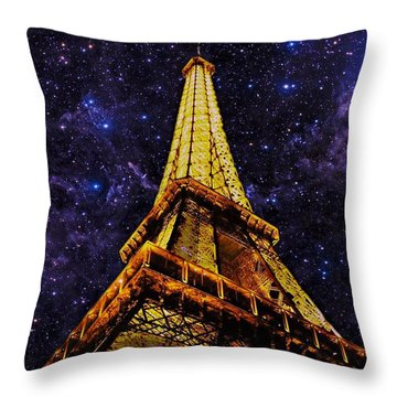 Eiffel Tower Photographic Art Throw Pillow