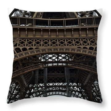 Throw Pillow featuring the photograph Eiffel Tower - The Forgotten Names by Allen Sheffield