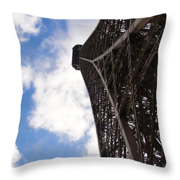 Throw Pillow featuring the photograph Eiffel Tower by Tiffany Erdman
