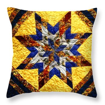 Eight Pointed Star Throw Pillow