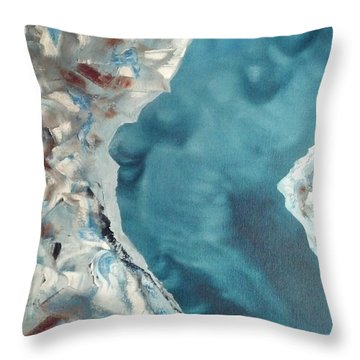 Throw Pillow featuring the painting Eighth Tent by Stuart Engel