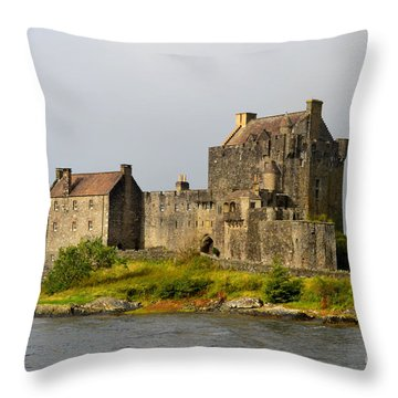 Eilean Donan Castle In Scotland Throw Pillow