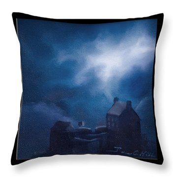 Eilean Donan Castle Throw Pillow by James Christopher Hill