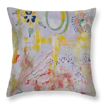 Throw Pillow featuring the painting Eileens Wedding by PainterArtist FIN