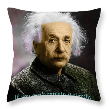 Einstein Explanation Throw Pillow
