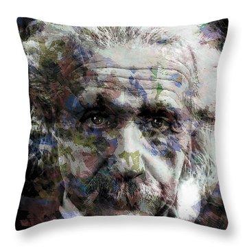 Einstein Genius Throw Pillow