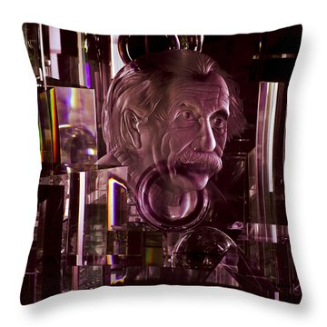 Einstein In Crystal - Purple Throw Pillow