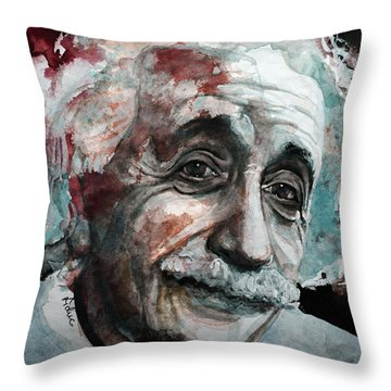 Einstein  Throw Pillow by Laur Iduc