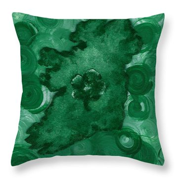 Eire Heart Of Ireland Throw Pillow by Alys Caviness-Gober