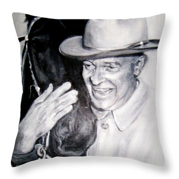 Eisenhower And Doodle De Doo Throw Pillow by Martha Suhocke