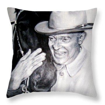 Eisenhower And Doodle De Doo Throw Pillow
