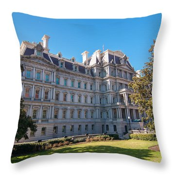 Eisenhower Executive Office Building In Washington Dc Throw Pillow