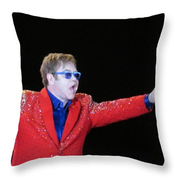 Ej Plays Soldout Concert Throw Pillow by Aaron Martens