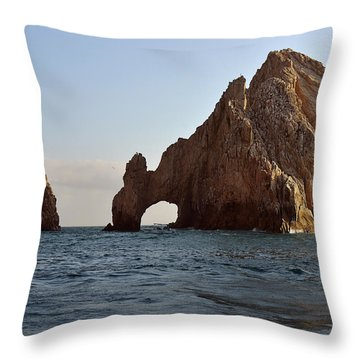 Throw Pillow featuring the photograph El Arco De Cabo San Lucas by Christine Till