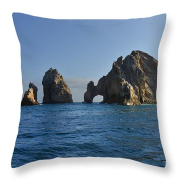 Throw Pillow featuring the photograph El Arco - The Arch - Cabo San Lucas by Christine Till