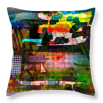 El Camino Restoration Throw Pillow by Gwyn Newcombe