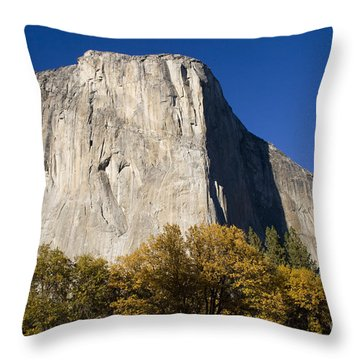 El Capitan In Yosemite National Park Throw Pillow by David Millenheft