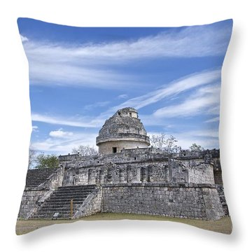 El Caracol Throw Pillow by Sean Griffin