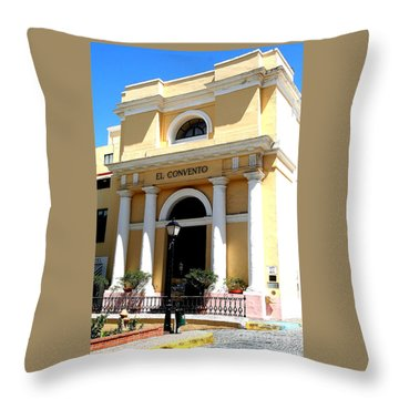 El Convento Hotel Throw Pillow