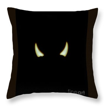 El Diablo Throw Pillow by Angela J Wright