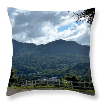 El Gigante Dormido De Adjuntas Throw Pillow