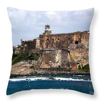 Throw Pillow featuring the painting El Moro by Holly Martinson