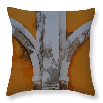 El Morro Deep Yellow Arch Throw Pillow