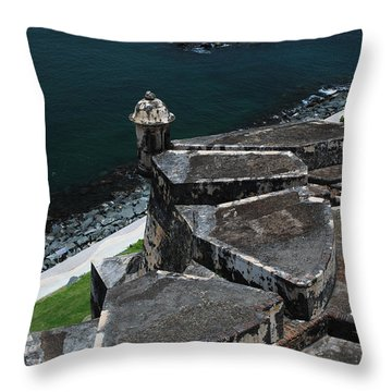 El Morro From Above Throw Pillow