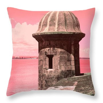 El Morro In The Pink Throw Pillow