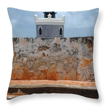 El Morro Light Tower Throw Pillow