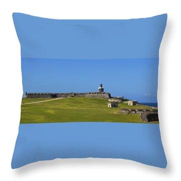El Morro Panorama Throw Pillow