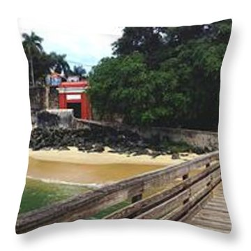 El Morro Park Throw Pillow by Carey Chen