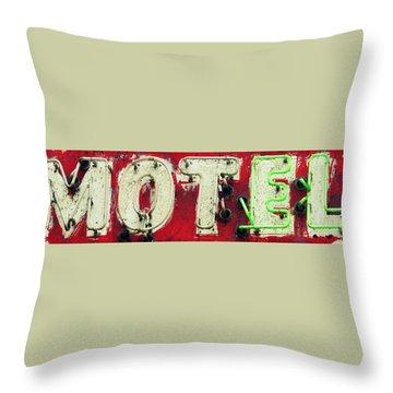 El Motel Throw Pillow