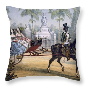 El Quitrin, Cuba Throw Pillow by Spanish School