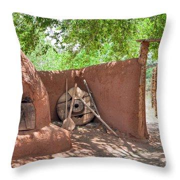Throw Pillow featuring the photograph El Rancho De Las Golondrinas by Roselynne Broussard