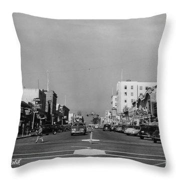 El Rey Theater Main Street Salinas Circa 1950 Throw Pillow