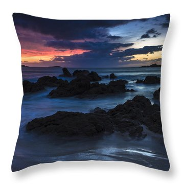 Throw Pillow featuring the photograph El Villar Beach Galicia Spain by Pablo Avanzini
